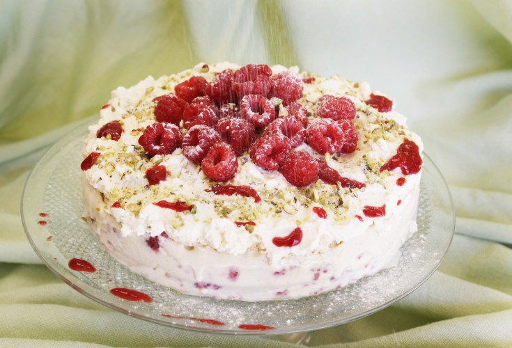 Raspberry and Vanilla Vacherin