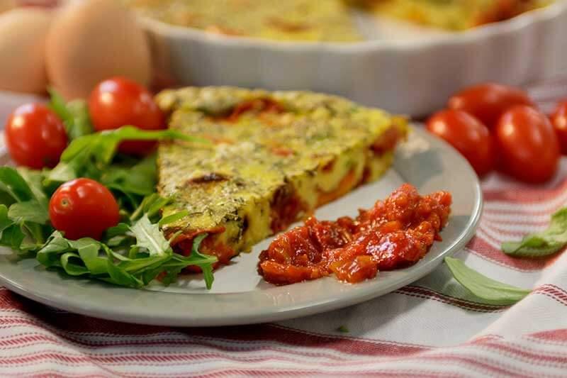 Roasted Tomato Clafoutis