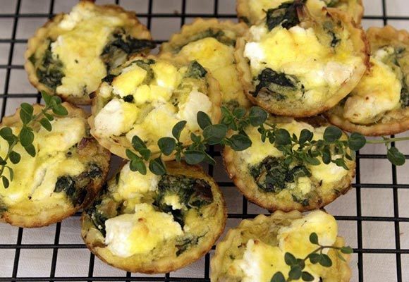 Provence: Spinach, Leek and Goat Cheese Tartlets