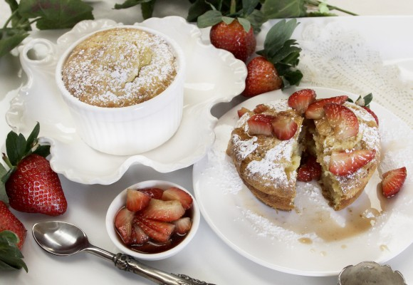 Strawberry Souffle Muffins