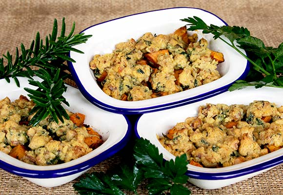 Provence: Sweet Potato with Walnuts and Herbs de Provence