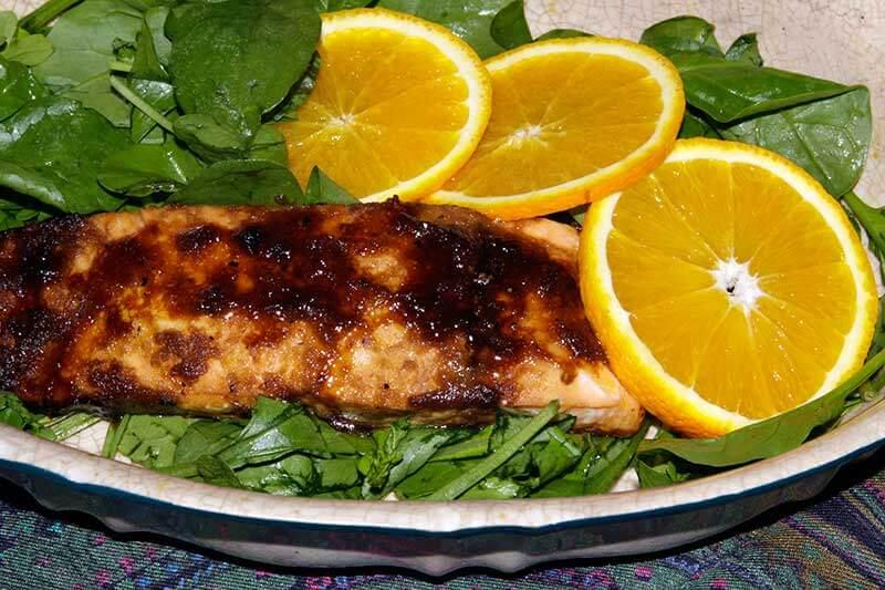 Salmon with orange en Papillote